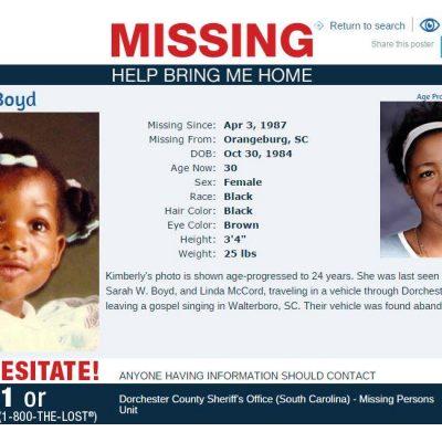 Linda McCord, Sarah Boyd, & 2-Year-Old Kimberly Boyd Disappear In 1987