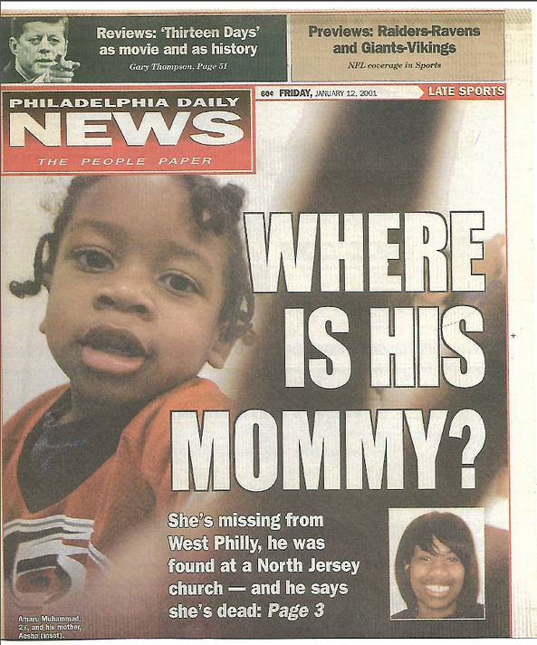"MISSING [11/30/2000] — Aesha Amera Muhammad's Two-Year-Old Son Told Police ""Mommy's Dead"""